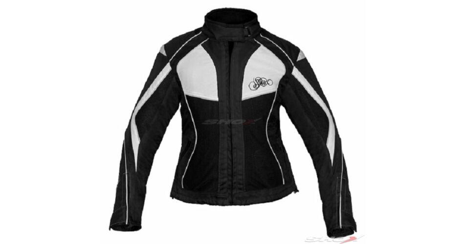 Tiana női motoros textildzseki feketefehér